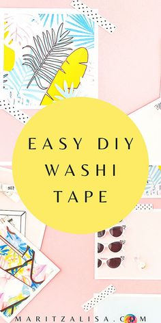 DIY Washi Tape Crafts - This tutorial will show you how to make your own easy customized washi tape for all your washi tape crafts. Perfect for your packages and scrapbooking! Homemade Stickers, Diy Stickers, Diy Washi Tape Crafts, Diy Paper, Paper Crafts, Diy Notebook, How To Make Diy, Craft Tutorials, Craft Projects