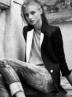 la modella mafia Anna Selezneva x Pierre Balmain Spring 2013 Campaign photographed by Karim Sadli 4