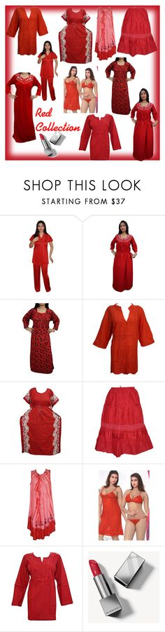 #ReD CoLLeCTIoN by lavanyas-trendzs on Polyvore featuring Burberry  http://www.polyvore.com/cgi/set?id=212745582  #women #fashion #redcollection #winterfashion #boho #bohemian #kurti #nightgown #skirt #sexynightdress