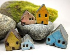 Candy Lane...Rustic Miniature Houses for Moss Tearriums by elukka