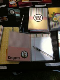 This is genius!  Use a DVD case for the grocery list on one side and a pocket for coupons on the other!