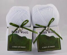 NoNA WooL Cotton Weiß Baumwolle Happy A, Wool, Cotton