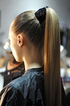 I would be perfectly happy if my hair was straight and in a high ponytail every day of my life.