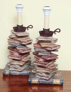 m'illumino di libri   books lamps