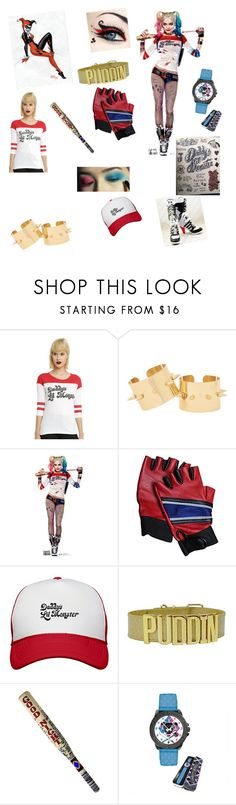 """""""Harley Quinn"""" by blondehair ❤ liked on Polyvore featuring DC Comics"""