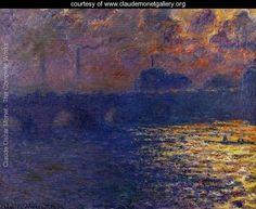 Waterloo Bridge, Sunlight Effect - Claude Oscar Monet - www.claudemonetgallery.org