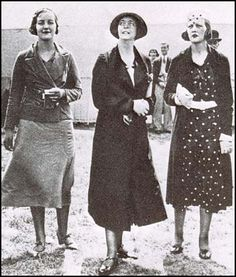 Unity Mitford, Lady Redesdale and Joan Farrer (July, 1932)