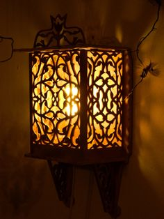 Wooden Lamp-wood lighting-rustic carving lamp-wall lamp-carved wall hanging decor-eco friendly-cottage style shabby chic-wall light-vintage by WoodenDecorate on Etsy https://www.etsy.com/listing/119371264/wooden-lamp-wood-lighting-rustic-carving