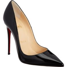 Christian Louboutin Women's So Kate Pumps (2,265 PEN) ❤ liked on Polyvore featuring shoes, pumps, heels, christian louboutin, sapatos, black, black patent pumps, high heel pumps, christian louboutin pumps and black stiletto pumps