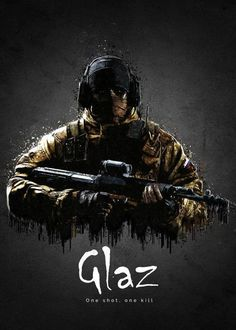 'Operator Glaz from Rainbow Six Siege' Poster by traxim Rainbow Six Siege Poster, Rainbow Six Siege Memes, Rainbow 6 Seige, Tom Clancy's Rainbow Six, Siege Operators, R6 Wallpaper, Rainbow Wallpaper, Video Game Art, Funny Pictures