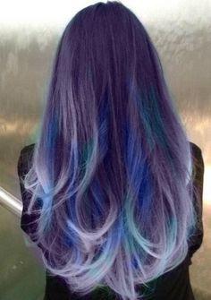 Blue Purple Hair on Pinterest