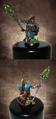Necron Overlord. Darker Background