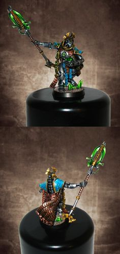Necron Overlord. Darker Background