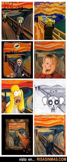 Distintas imágenes de El grito de Munch