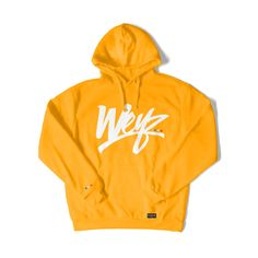 Sweat capuche / Hoodie - Jaune or / Gold | WeyzClothing