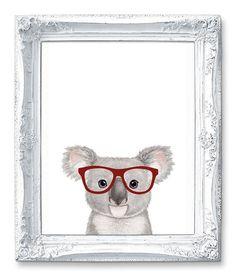 Nerd Koala Gift Bear Art Print