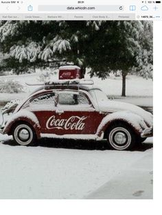 """""""Ice Cold"""" Coca Cola... & I love the Bug! :)"""