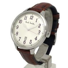 Paul Smith - The Classic City Watch (Grey Face/Purple Numerals; Crocodile Embossed Leather Band)