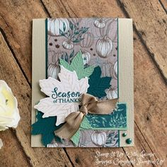 Stampin' Up! NEW Gather Together Tutorial Video – Stamp It Up with Jaimie Stampin' Up! NEW Gather Together Tutorial Video – Stamp It Up with Jaimie Fall Cards, Holiday Cards, Christmas Cards, Prim Christmas, Handmade Christmas, Halloween Cards, Fall Halloween, Leaf Cards, Scrapbooking