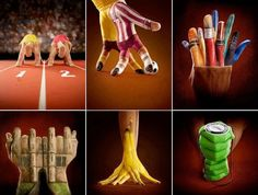 Awesome & creative handpainting illusion art by Annie Ralli