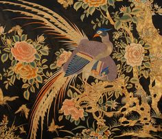 SPECTACULAR CHINESE SILK EMBROIDERED PANEL, 19th C.-Фрагмент