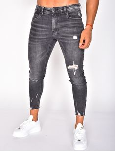 Jeans homme pas cher, jeans Redskins, jean Sixth June - Jeans Industry Black Ripped Jeans, Denim Jeans Men, High Jeans, Jeans Pants, Nike Outfits, Casual Outfits, Men Casual, Jeans Homme Fashion, Mens Fashion