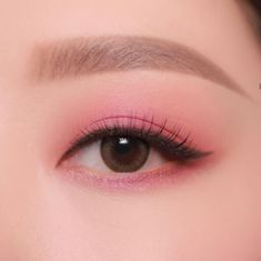 Makeup eyeshadow Makeup items Eye makeup remover is the best Make-up 1969 when applying makeup Korean Makeup Look, Asian Eye Makeup, Makeup Eye Looks, Pink Eye Makeup, Cute Makeup, Pretty Makeup, Simple Makeup, Makeup Eyeshadow, Natural Makeup