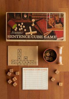 Vintage Scrabble Sentence Cube Game