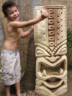 Tiki mask & child