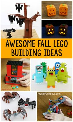 Lego Halloween, Halloween Projects, Christmas Projects, Fall Halloween, Lego Toys, Lego Duplo, Legos, Kids Crafts, Lego Candy