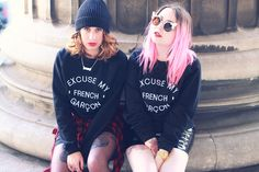 Excuse my french #SS14 http://www.heydickface.com/excuse-my-french-sweatshirt/