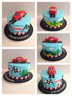 Rayo McQueen cake Baby Birthday Cakes, Baby Boy Cakes, Cakes For Boys, Gateau Flash Mcqueen, Disney Cars Cake, Lightning Mcqueen Cake, Barbie Cake, Cake Creations, Creative Cakes