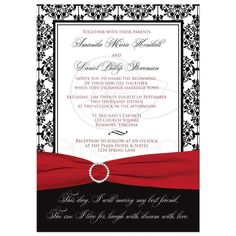 Inspired Image of Party City Wedding Invitations Party City Wedding Invitations Vintage Party City Wedding Invitations Of Simple Invitation Wording Modern Wedding Invitation Wording, Hobby Lobby Wedding Invitations, Black And White Wedding Invitations, Vintage Wedding Invitations, Wedding Invitation Templates, Invite, Custom Invitations, Vintage Party, White Damask
