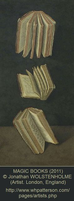 Sarah Pinyan posted Jonathan Wolstenholme, Magic Books, 2011 to her -nice signs- postboard via the Juxtapost bookmarklet. I Love Books, Books To Read, Fallen Book, Magic Book, Old Books, Book Nooks, Book Of Life, Book Of Shadows, Bibliophile