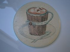 decoupage stand for cup, podstawka pod kubek