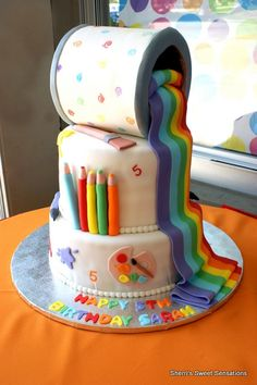 Art theme birthday cake @Debra Eskinazi Stockdale Eskinazi Stockdale Eskinazi Stockdale Srader for payton!