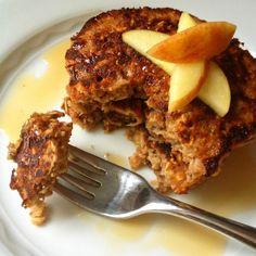 Apple Cinnamon Oatmeal Protein Pancakes (Gluten Free)