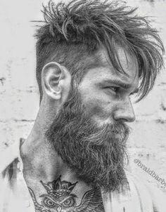 Bearded Men: 40 Trending Hairstyles For Men With Beards. Trending Hairstyles For Men, Mens Hairstyles Fade, Cool Mens Haircuts, Men's Haircuts, Men's Hairstyles, Best Beard Styles, Hair And Beard Styles, Short Hair Styles, Long Beard Styles