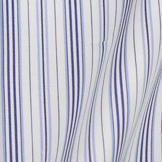 [トーマス シルバー] トラッドストライプ- ブルー×ネイビー #9662
