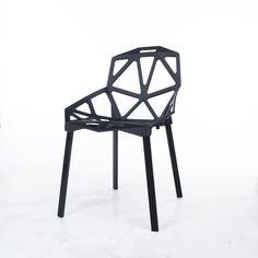 Eiffel Inspired Dining Chair- Polygon shape (Black) Magis Chair One