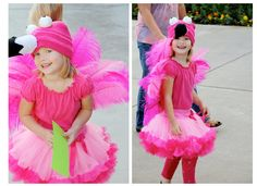 DIY flamingo Halloween costume