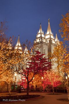 Christmas at Temple Square, Salt Lake City, Utah.  Can't wait to go! There are thousands of Christmas lights, and the reflection pool has floating candles every year.