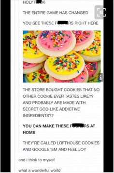 GOOGLES AT THE SPEED OF LIGHT Lofthouse Cookies, Loft House, Tumblr Stuff, My Tumblr, Tumblr Funny, Game Changer, Dessert Recipes, Desserts, Yummy Recipes