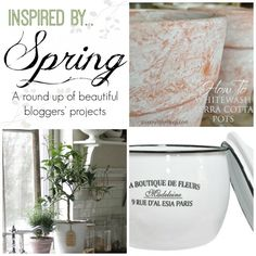 Inspired by Spring -- a round up of beautiful blogger projects!  | by SnazzyLittleThings.com
