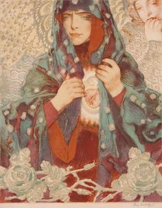 "thepolishstufflove:      Józef Mehoffer(Polish,1869-1946)      ""Miłosierdzie"" - Mercy - what an interesting interpretation of the Holy Mother. I love it!"