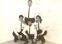 Foto oficial del grupo Libertad de Tijuana B.C. Es un grupo musical versatil que hoy en dia sigue laborando. El integrante que esta parado:Fancisco Serrano. Sentados de izquierda a derecha:Juan Godino, su servidor:Antonio Godino y Jorge Godino. foto tomada en Junio  de 1993.
