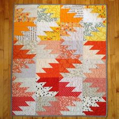 Delectable Mountains baby quilt by wens_was_here on Instagram