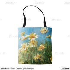 Beautiful Yellow Daisies Tote Bag. Regalos, Gifts. #bolso #bag #DiaDeLasMadres #MothersDay