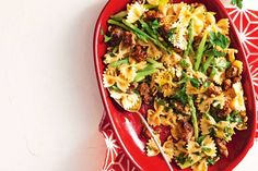 This easy pasta, sausage and asparagus recipe is designed for weeknight cooking.