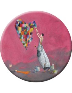 """Gaëlle Boissonnard magnet (75mm) """"Un coeur multicolore"""""""
